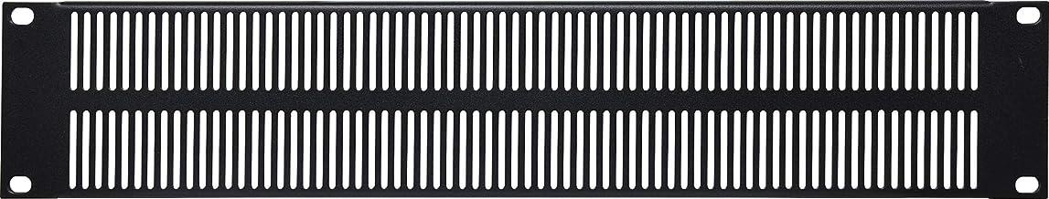 """Generic 2U Vented Black Steel 19"""" Rack Panel"""
