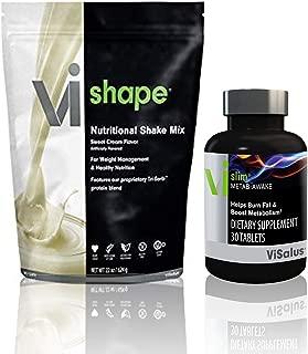 ViSalus VI-Shape Nutritional Shake Mix Sweet Cream Flavor 22oz & Vi-Slim Meta Awake Tab