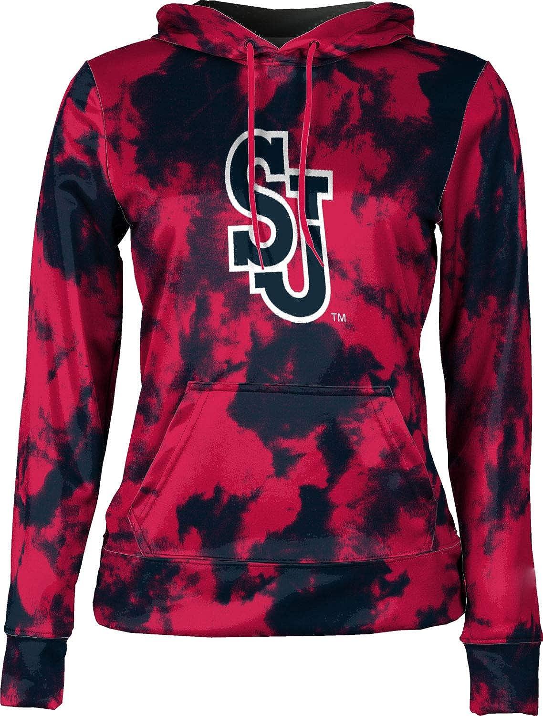 St. Johns University Girls' Pullover Hoodie, School Spirit Sweatshirt (Grunge)