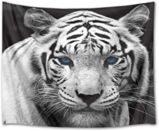 Shubhlaxmifashion Indian Tiger Face Tapestry Wall Hanging Poster Decor Hippie Cotton Throw Indian Bohemian wild