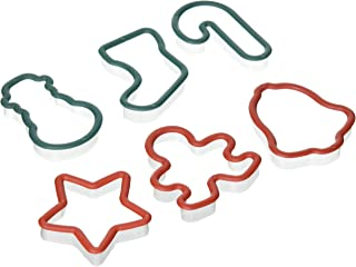 Christmas Shapes Plastic Cookie Cutters, 6-pc. Sets