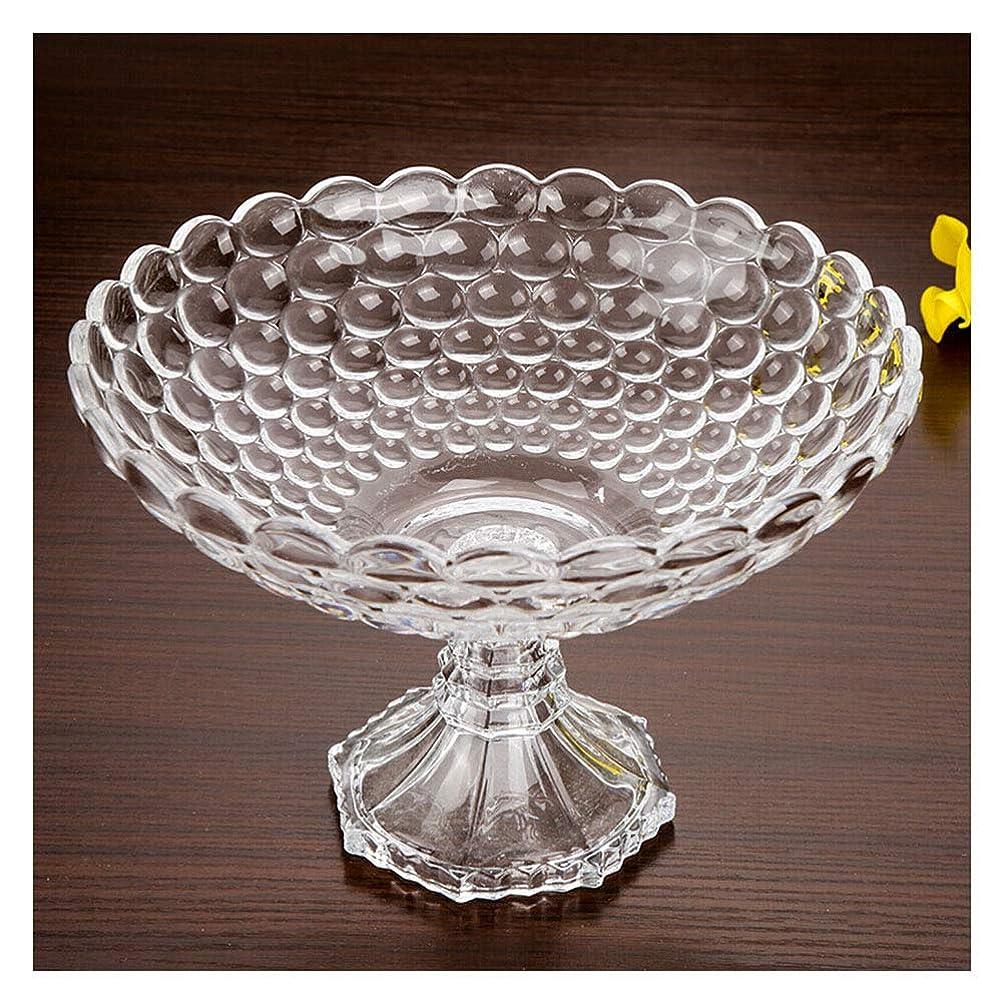 ひそかに無法者陸軍YLGROUP クリスタルガラス装飾センターピースフルーツボウル、モダンリビングルームフルーツボウルクリエイティブハイドライフルーツボウルクリエイティブ -02365 (色 : クリア, サイズ さいず : D24cm)