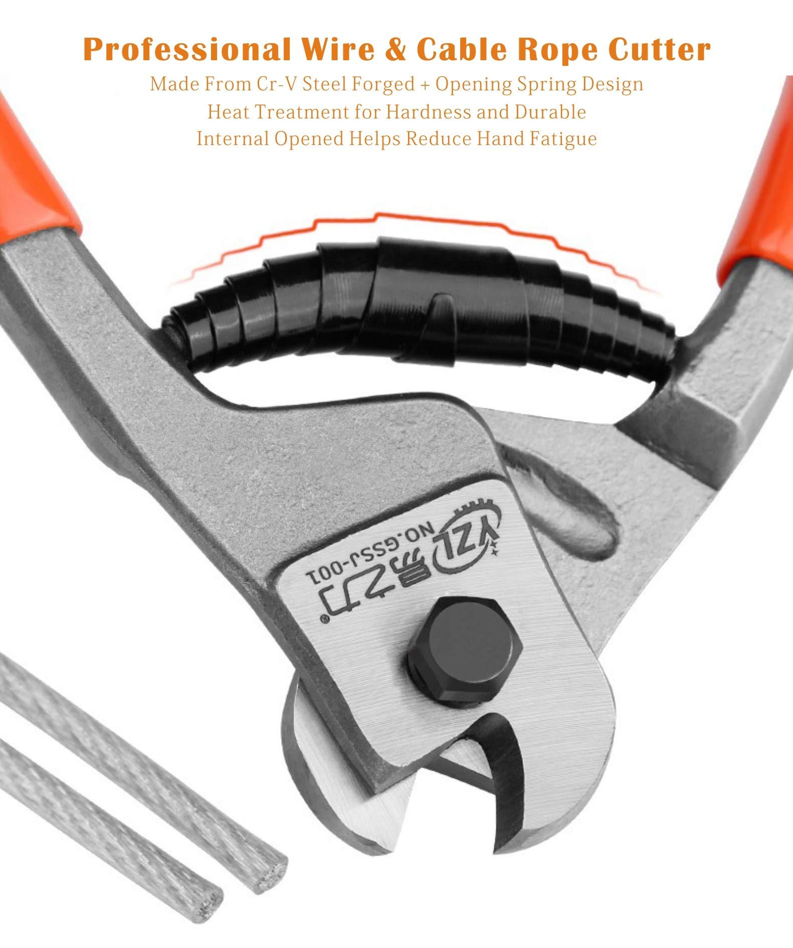 Meccion Cortador de Alambre 20cm CR-V Cortador de Cable Para Cable ...