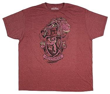 Fashion Harry Potter Gryffindor Crest Burgundy Heather Graphic T-Shirt