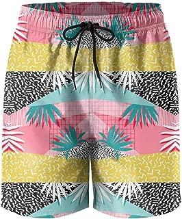 Hipster Unique Tropical Palm Leaves Floral Boxer Briefs Mens Underwear Boys Breathable Stretch Low Rise
