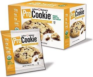 Julian Bakery ProCookie   Organic Peanut Butter Chocolate Chip   Whey   USDA Organic   12g Protein   5 Net Carbs   Gluten-...