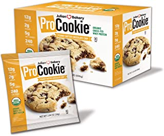 ProCookie (WHEY) (USDA Organic) (60/40 Fat to Protein) Peanut Butter Chocolate Chip (Low Carb)(Gluten-Free)(Grain-Free)(Monk Fruit Sweetened) (12 Cookies)