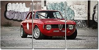 Quadro trittico ALFA GT 1300 JUNIOR SCALINO- 160X80 Cm