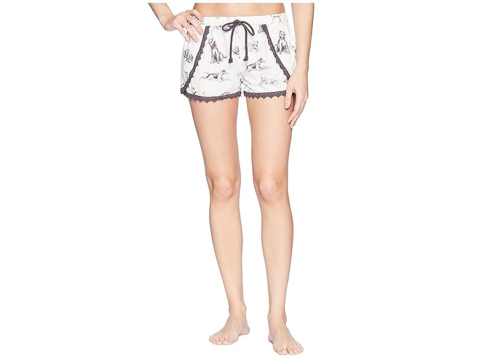 P.J. Salvage Playful Prints Dog Shorts (Antique White) Women