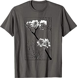 Queen Tiger Sakura Cherry Blossom Sumi Inspired Pen and Ink T-Shirt