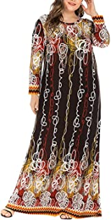 DSJTCH 6XL Plus Size Muslim Dresses and Abaya for Women Long Sleeve Loose Oversized Maxi Long Dress Dubai Turkish Islamic ...