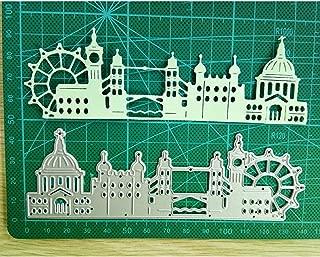 DIY Metal Cutting Dies, Castle 3D Dies Cutting Stencil Template Mould for DIY Scrapbook Album Paper Card (141×47mm)