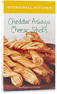 Stonewall Kitchen Cheddar Asiago Cheese Sticks, 4 Ounce Box