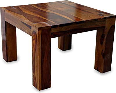 MV Furniture Solid Sheesham Wood Center Table | Coffee Table | Living Room Table - Natural Teak Finish