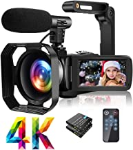 4K Video Camera Camcorder with Microphone Ultra HD 30MP YouTube Vlogging Camera 3.0 Inch..
