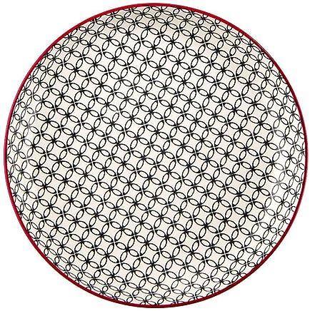 Preisvergleich für BUTLERS Retro Suppenteller Ø 21 cm - Tiefer Teller in Schwarz-Weiß - Vintage Porzellanteller, Speiseteller, Pastateller