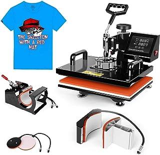 Heat Press Machine 15x15 inch - TUSY 5 in 1 Swing Away Digital Industrial Sublimation Printing Press Heat Transfer Machine...