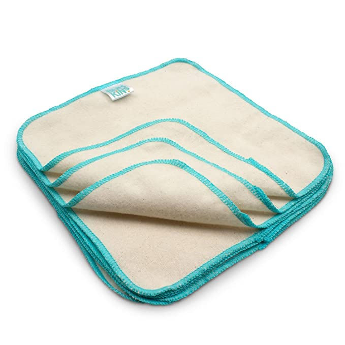 Bumkins Reusable Flannel Baby Wipes