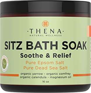 Best Organic Sitz Bath Soak for Postpartum Care Recovery & Hemmoroid Treatment, Extra Healing Natural Relief Control at-Home Treatment Remedies, Epsom & Dead Sea Salts Witch Hazel Essential Oils