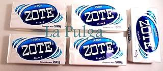 Jabon Zote Blanco Laundry Soap 200g each Blanco/White Ropa Made in Mexico 5 pcs