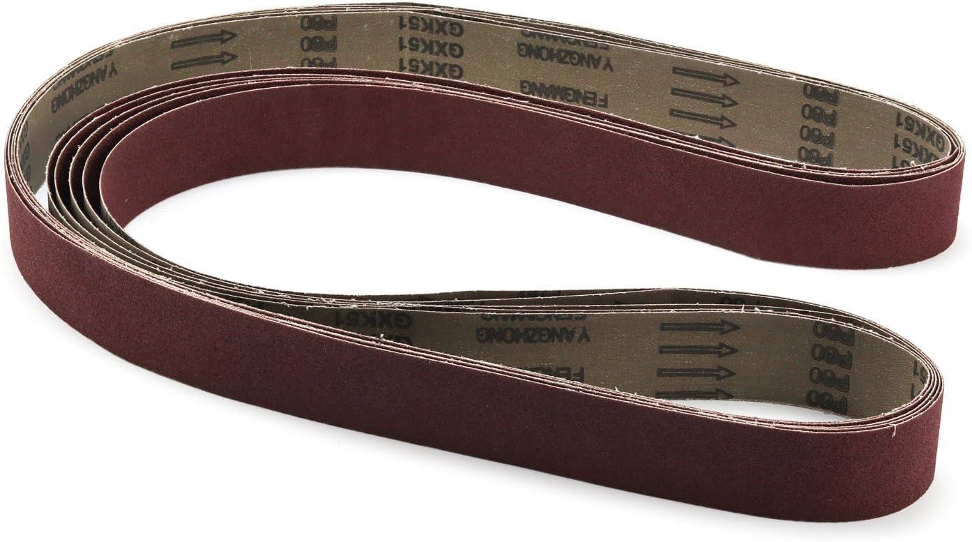 "6Pcs 2 x 82/"" Sanding Sander Belts 36-320 Grit Polishing Grinding Silicon Carbide"