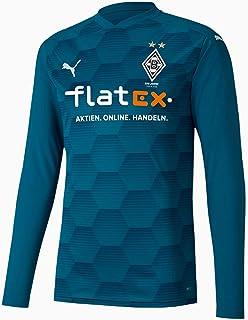 PUMA Herren Borussia Mönchengladbach Torwart Trikot 2020 2021 Sponsor Logo blau