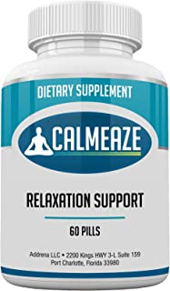 CALMEAZE- Improve Relaxation and Reduce Stress and Anxiety from These Natural Vitamin Supplement Pills with Lemon Balm, Th...