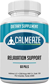 CALMEAZE- Improve Relaxation and Reduce Stress and Anxiety from These Natural Vitamin Supplement Pills with Lemon Balm, Theanine and More