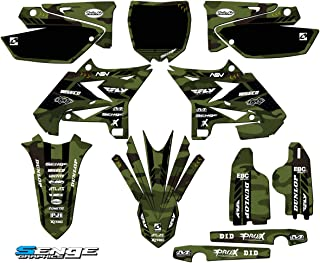 Senge Graphics kit compatible with Yamaha UFO RESTYLED 2005-2007 YZ 125/250 (2-Stroke), Apache Matte Green (MATTE FINISH) Complete Graphics Kit