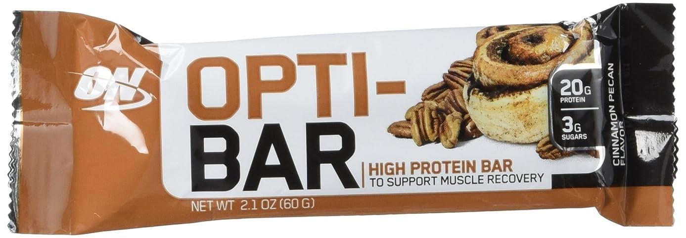 OPTIMUM NUTRITION Opti-Bar, Cinnamon Pecan, 12 Count