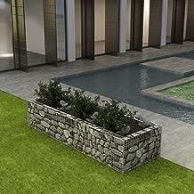 Tidyard Outdoor Garden Gabion Stone Basket Planter Raised Bed, Steel Garden Decoration for Patio, Garden, Swimming Pool, Terrace 106.3