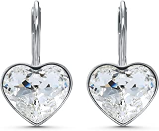 SWAROVSKI Women's Bella Heart Earrings Collection, Pink Crystals, Clear Crystals