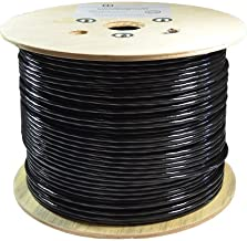 Dripstone CAT6A STP Shielded Wire Double Jacket Outdoor Direct Burial Pure Copper Ethernet Cable CMXT Waterproof Wire Fluke Tested (500ft)