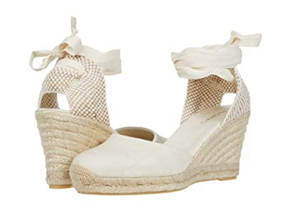 ALOHAS Clara By Day Platform Wedge Espadrille (White) Women