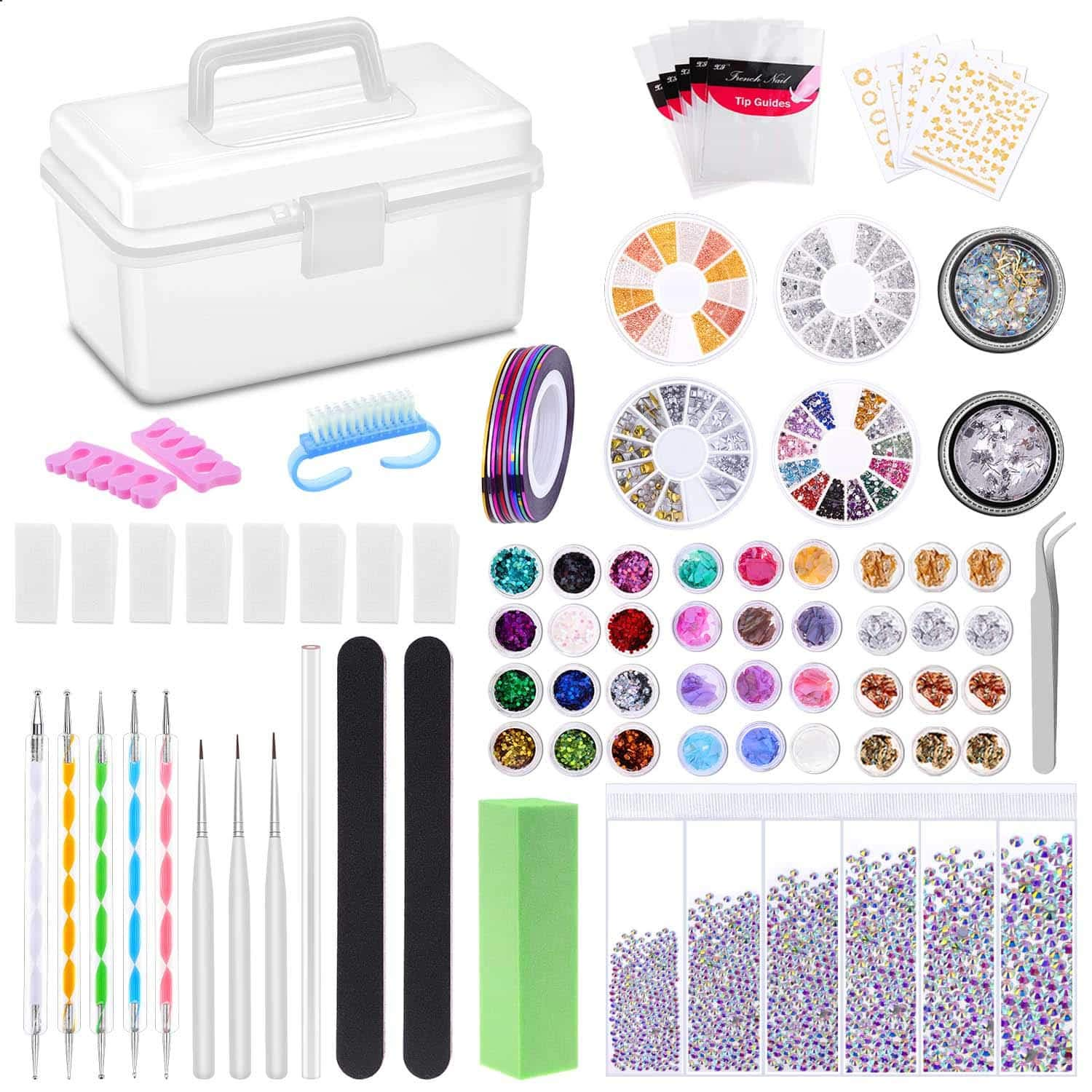 Nail Art Kit Paxcoo Tools Design Supplies Tampa Mall Super beauty product restock quality top Inc