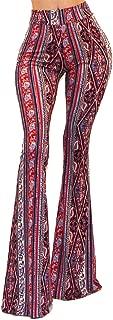 Women's USA Boho Comfy Stretchy Bell Bottom Flare Pants