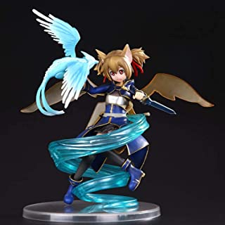 20CM Japanese Anime 1/8 PVC Model Doll Sword Art Online II Silica ALO Ver. Funny Knights Ayano Keiko Ornaments For Kids Ad...