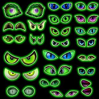 Bluelves Heldere Halloween oogstickers, verwijderbare fluorescerende zichtstickers, verlichting in het donker voor Hallowe...