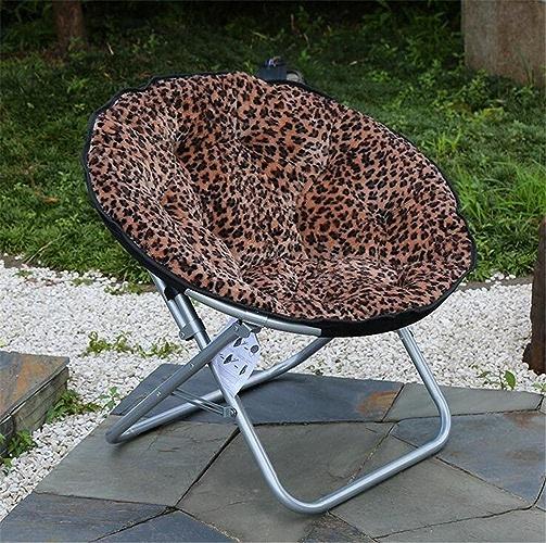 ZHDNG Chaise de Lune Chaise Pliante Confortable intérieure extérieure de Mode Loisirs Confortable