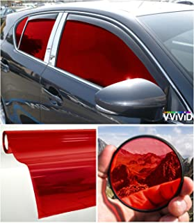 VViViD Colorful Transparent Vinyl Car Window Tinting 30 Inch x 60 Inch 2 Roll Pack (Red)