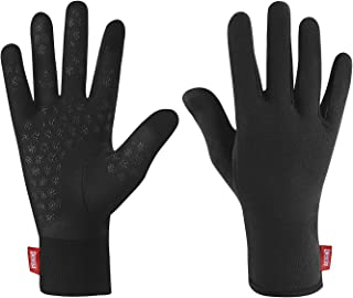 aegend Upgraded Lightweight Running Gloves Warm Touchscreen Compression Mittens Liners Gloves Men Women with Elastic Cuff Cycling Driving Sports Gloves for Winter,  3 Sizes