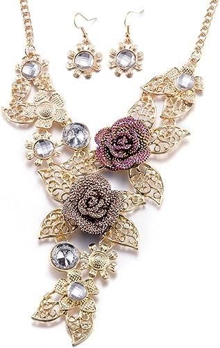 Fashion Rose Flower Choker Necklace For Women Girls