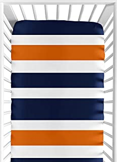 orange and blue crib bedding
