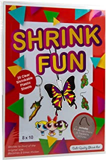 Best Dabit Shrink fun Paper 20-Pack, Shrink Sheets For Boys And Girls, Clear Shrink Film Sheets, Kids Activities For All Ages, Bonus Traceable Pictures And Keychains Reviews