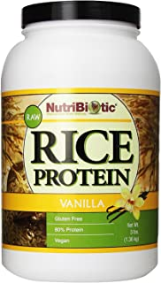 Nutribiotic Rice Protein, Vanilla, 3 Pound
