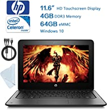 HP Probook 11.6 inch (1366 x 768) Convertible Touchscreen Laptop, Intel Celeron, 64GB SSD, 4GB RAM, Win10 W/Valued 25.99 Wiping Cloth 3 in 1 USB Charging Cable
