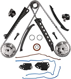 Exerock XL1Z6L266AA 1L3Z6L266AA 5.4 3V Triton Engine Timing Chain Kit Chain,Guide,Tensioner & Cam Phaser Fits Ford Expedition F150 F250 F350 Super Duty, Lincoln Navigator Mark LT