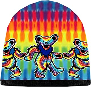 Grateful Dead Knit Beanie Skull Cap Winter Hat with Iconic Graphics