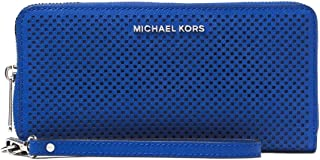 Michael Kors Womens Jet Set Travel Leather Continental Wristlet