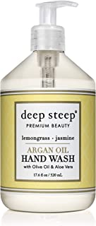 Deep Steep Argan Oil Liquid Hand Wash, Lemongrass Jasmine, 17.6 Fluid Ounce